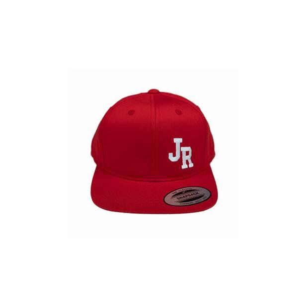 Cap rot mit Deinen Buchstaben