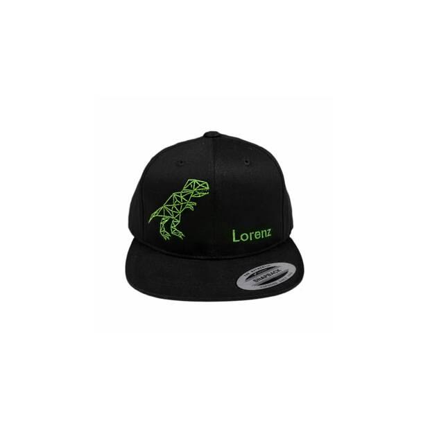 Cap schwarz Dinosaurier