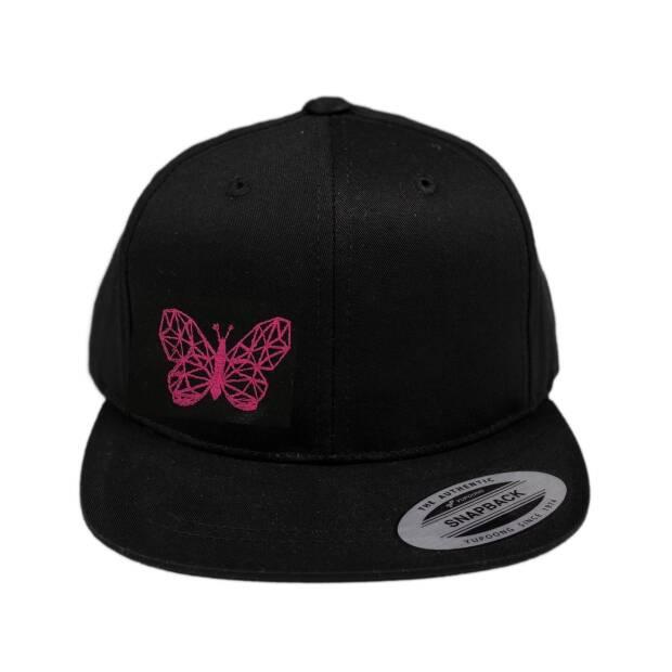 Cap schwarz Schmetterling
