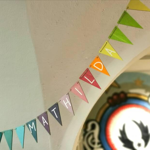 Wimpelkette Pastell mit Deinem Namen